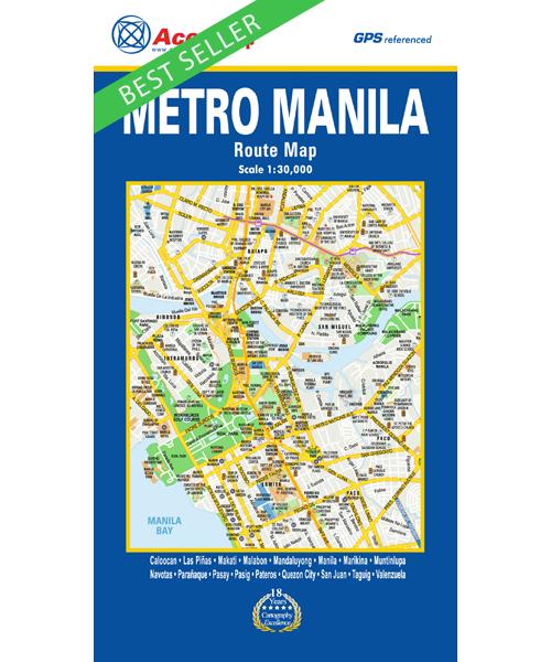 Metro Manila Route Map AccuMap