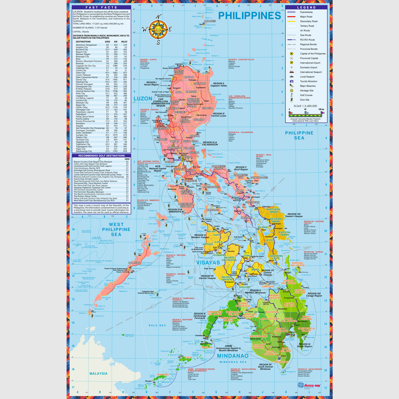 Philippine Map (Political) - Full Customization, Accu-map, Inc. on