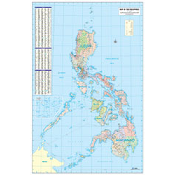 Philippine Map Physical Large Scale Wall Map Accumap Updated 2016