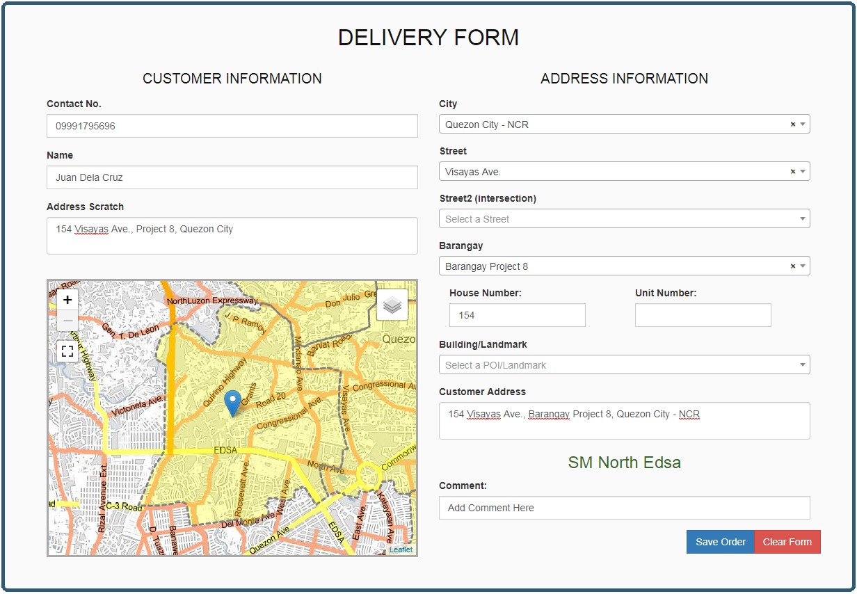 deliveryform